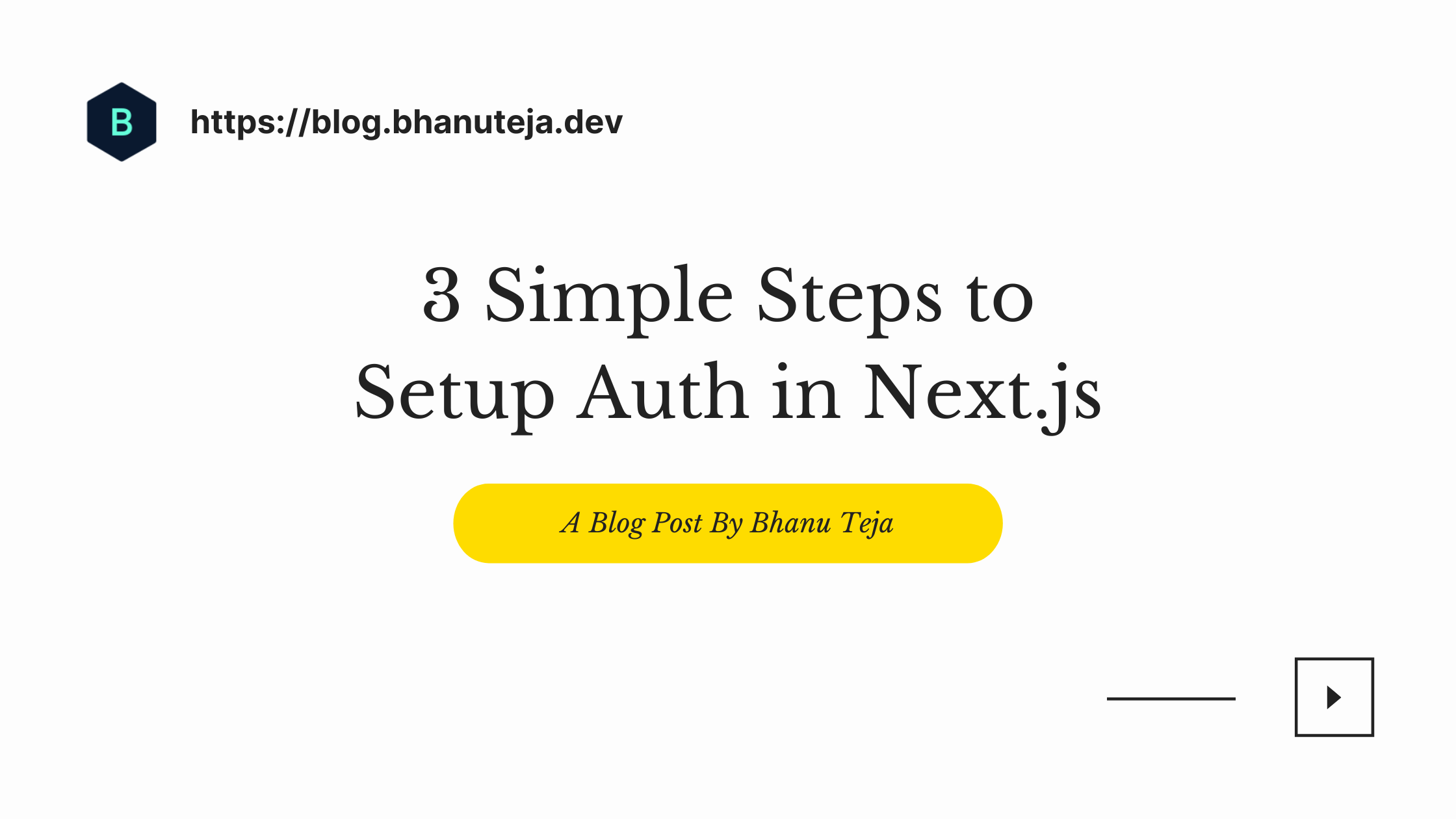 3 Simple Steps To Setup Authentication in Next.js