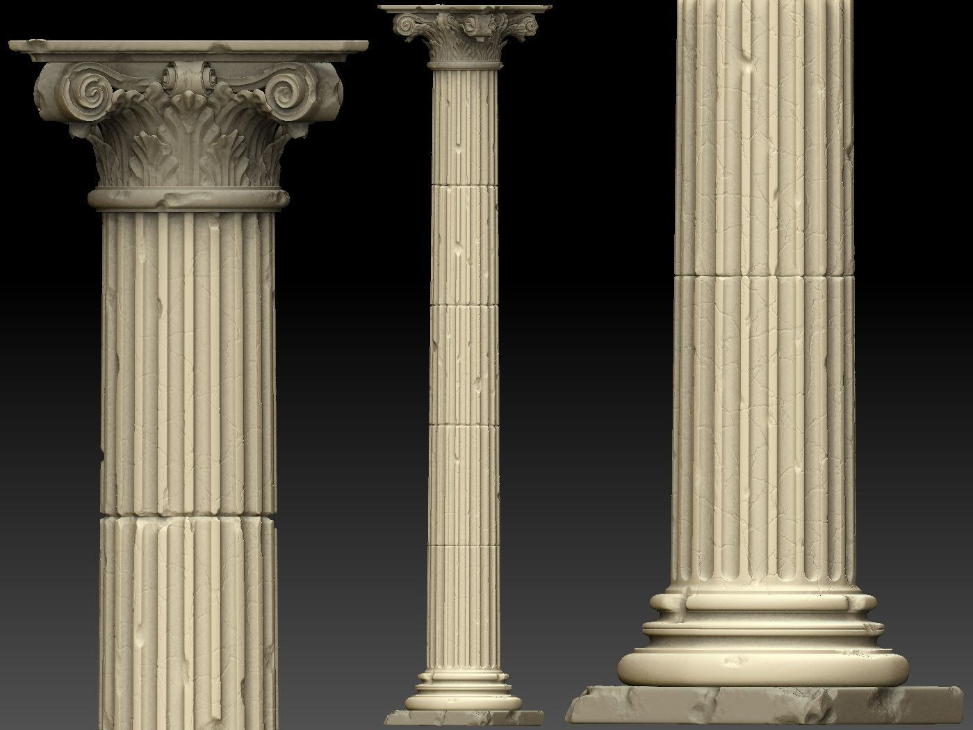 ancient stone column pillars
