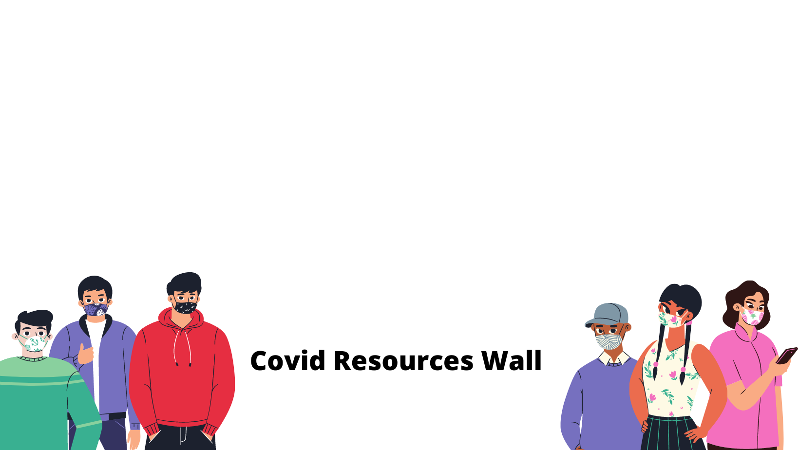 Covid Resources Wall