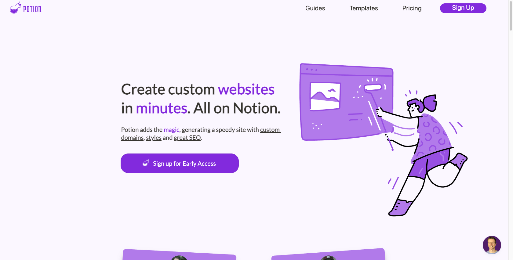 How I created my landing page with Notion