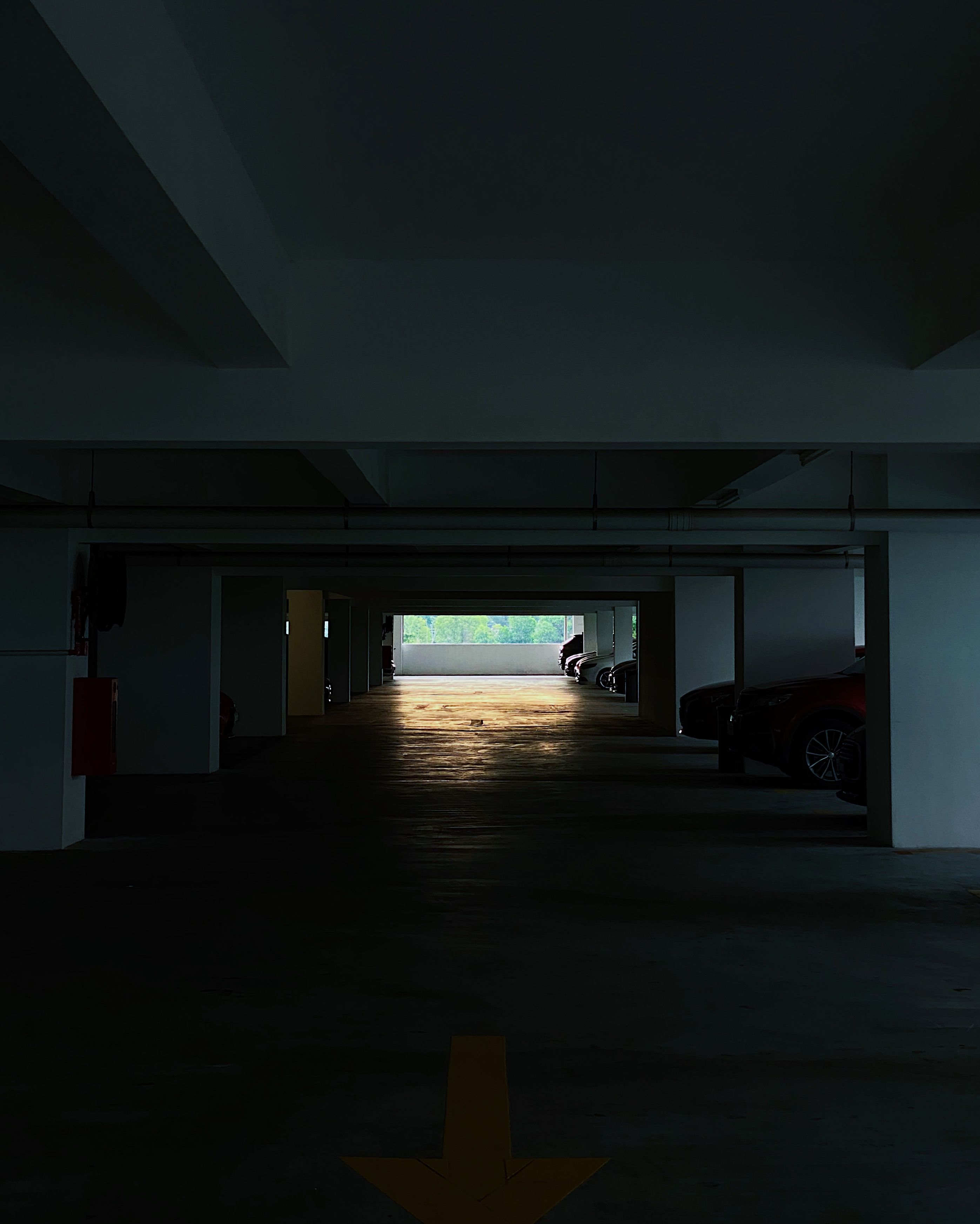 (iPhone 11 Pro) Photo by me, at one of my apartment's carpark floors.