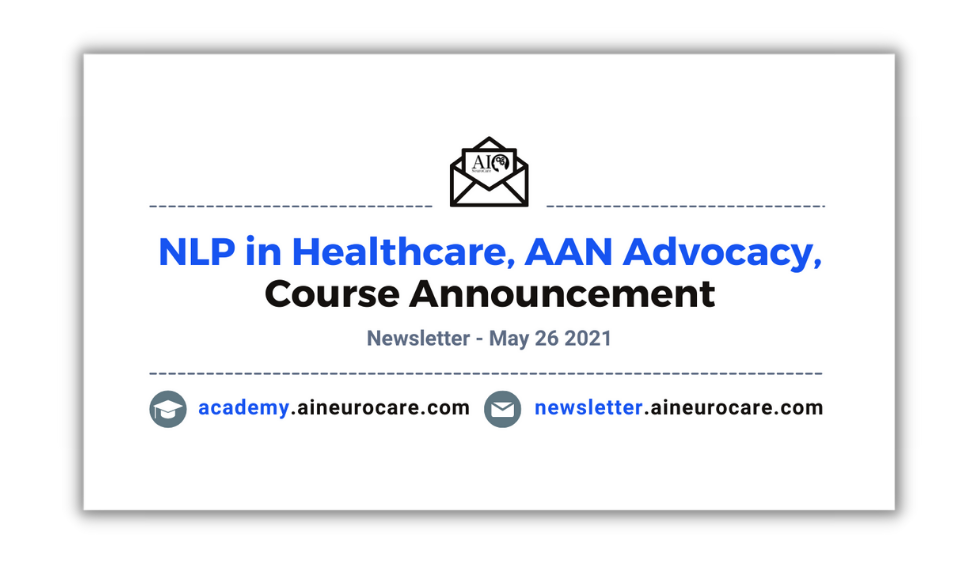 NLP in Healthcare, AANAdvocacy, Course Announcement 👨⚕️