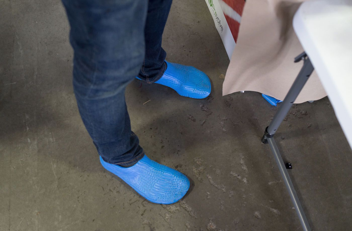The shoe in action, ft.UWDesign alum Justin Taylor.
