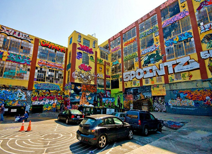 5Pointz just before the demolition in 2013.