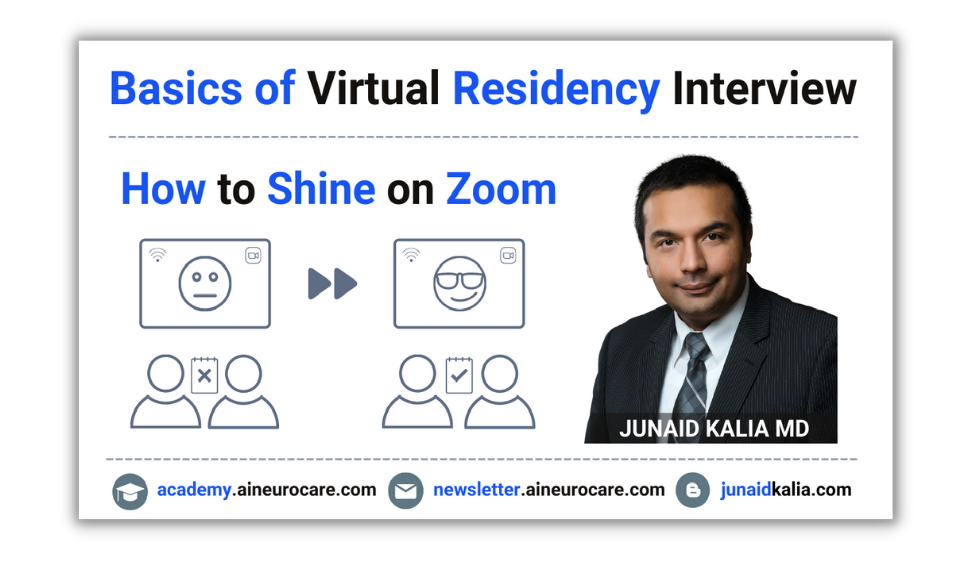 Basics of Virtual Residency Interview - How to Shine on Zoom