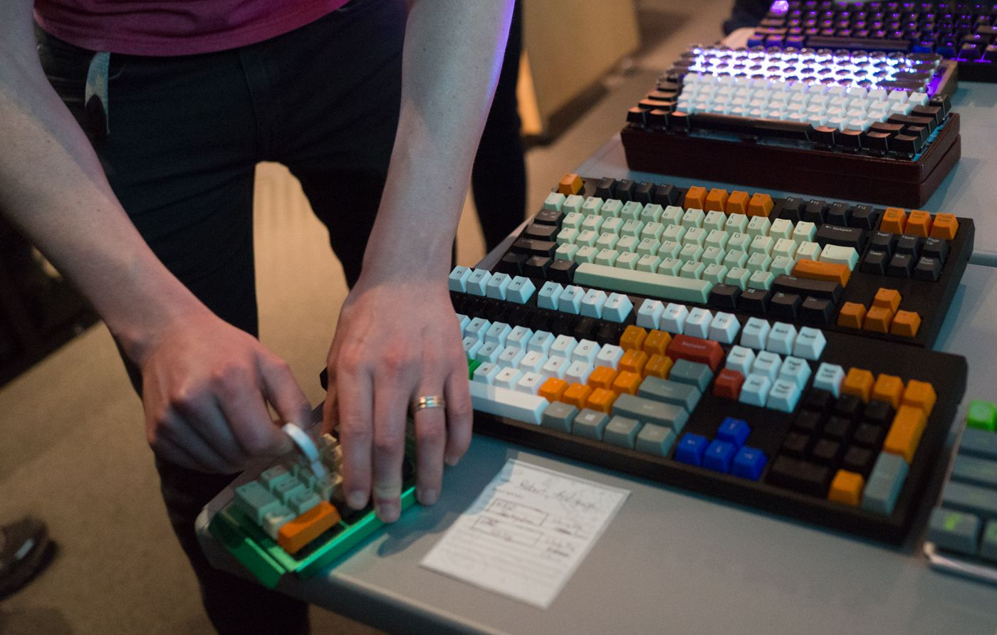 Numpad with different kinds of switches.