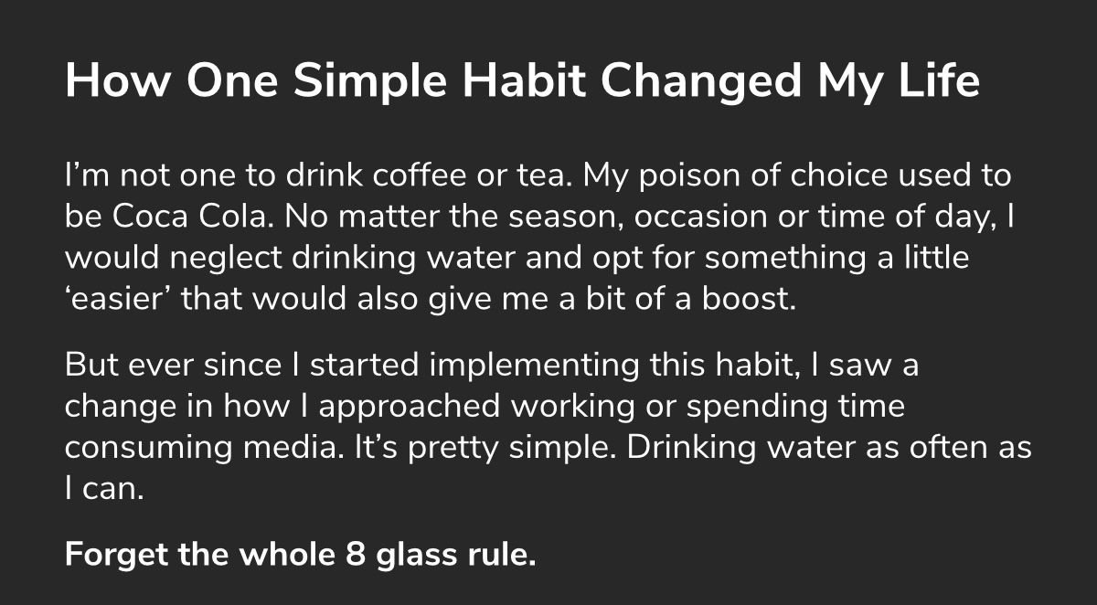 How This One Habit Changed My Life