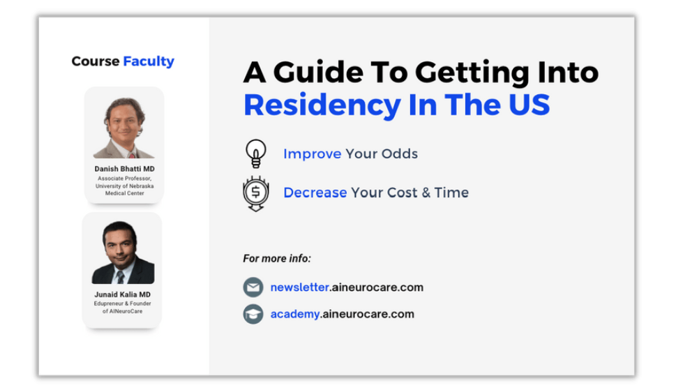 A Guide to Getting into Residency in the US — Improve Your Odds, Decrease Your Cost & Time