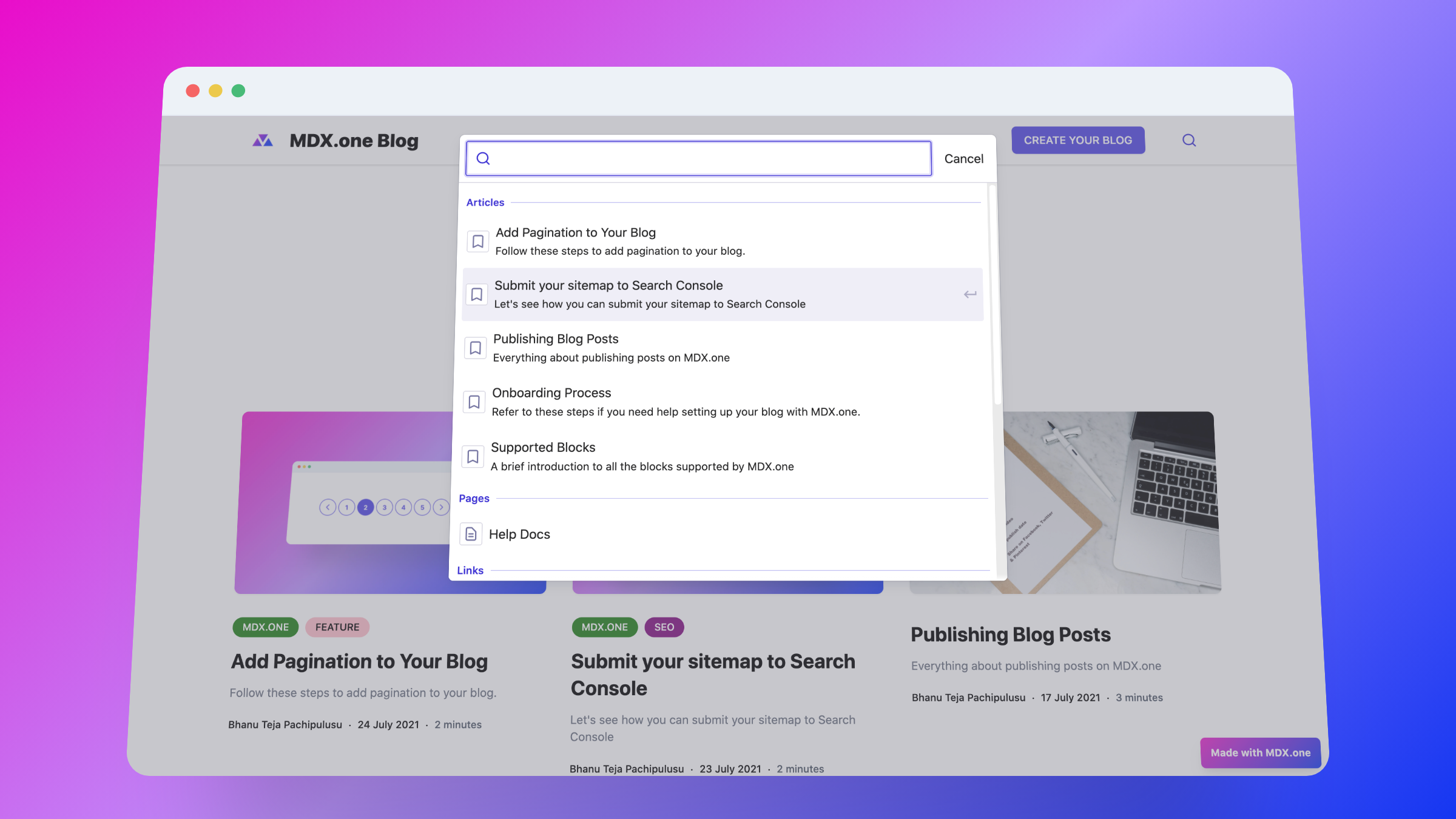 Enable Search to Your Blog