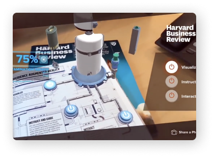 Paper manual with AR