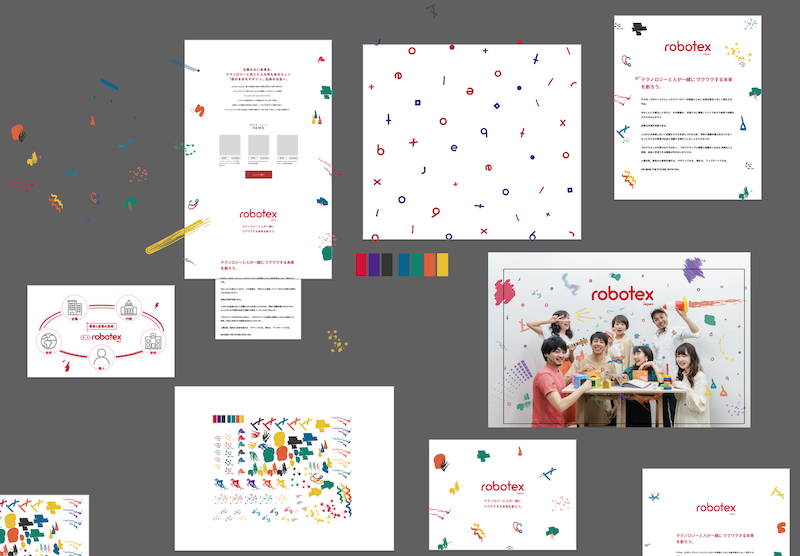 Process for defining website mockup, graphic and brand visual identity.