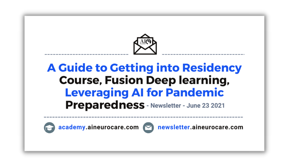 A Guide to Getting into Residency-Course, Fusion Deep learning. Leveraging AI for Pandemic Preparedness 👨⚕️