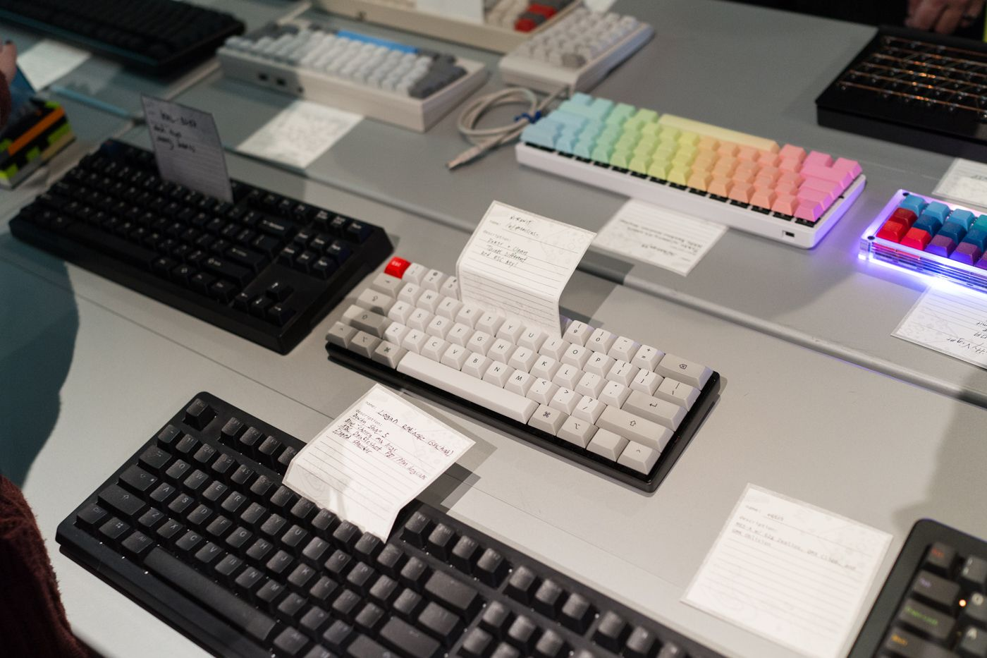 My keyboard! Pok3r withMXClears andSPThink Different keycaps,SPredESCkey.