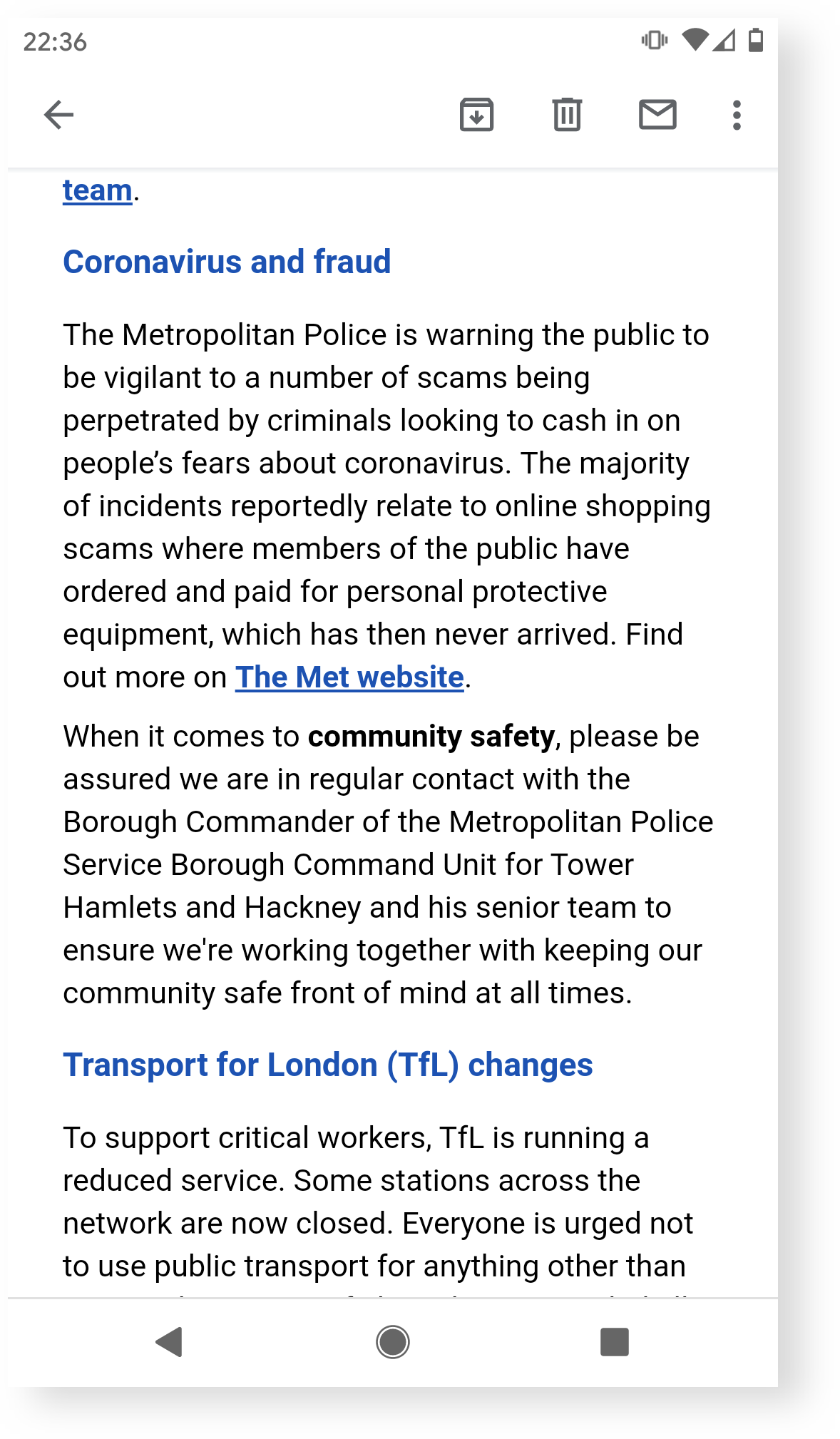 Evidence: Met police warning on new scams