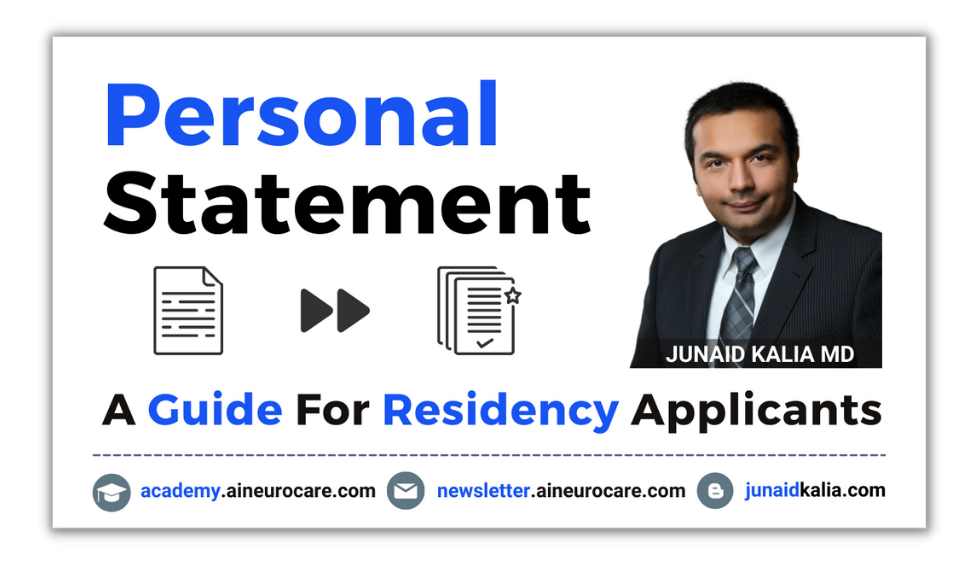 Personal Statement for Residency Applicants