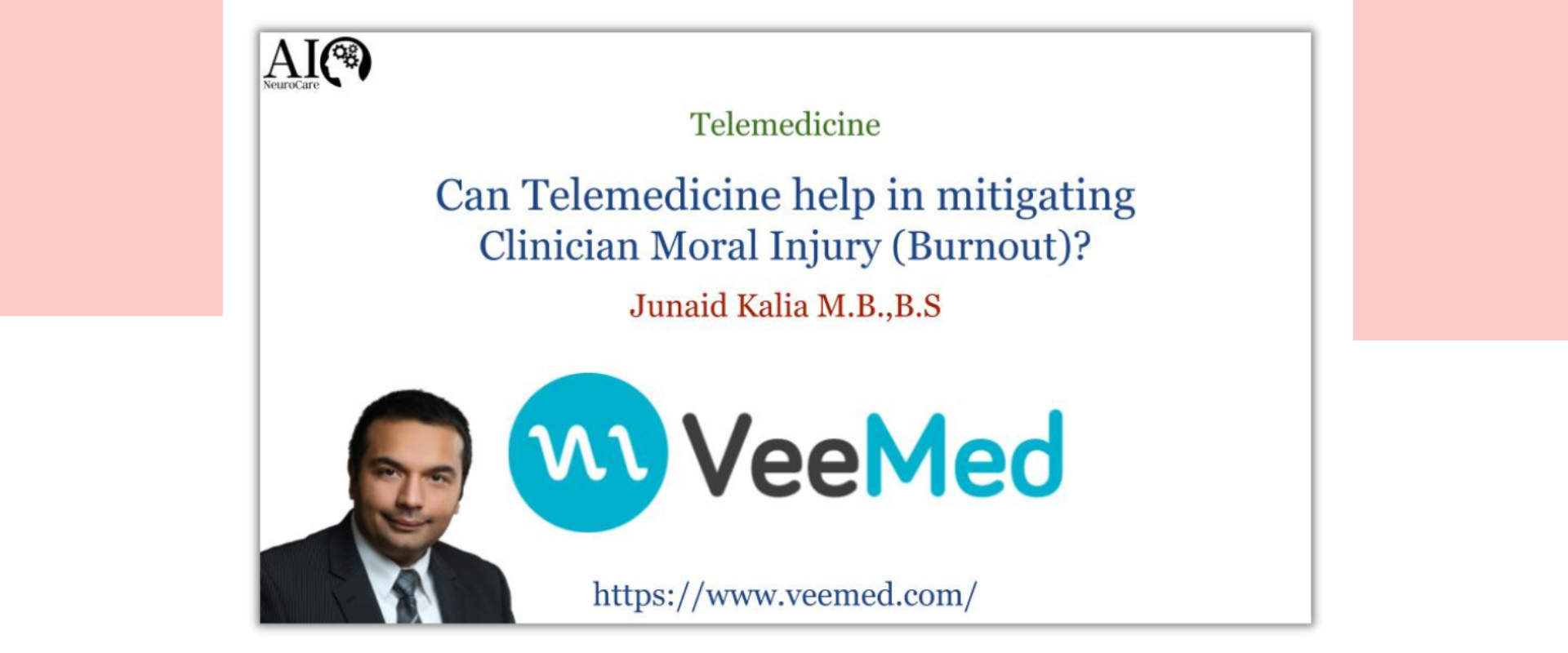 Can Telemedicine help in mitigating Clinician Moral Injury/Burnout?