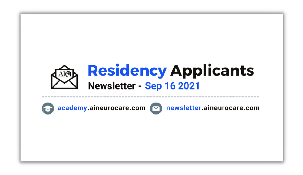 Residency Applicants - Special Edition👨⚕️