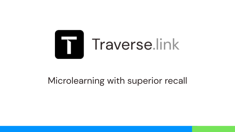 Traverse.link for Microlearning