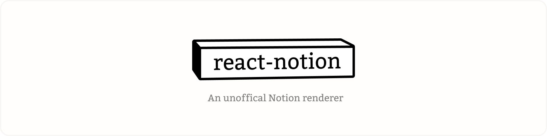 react-notion is born