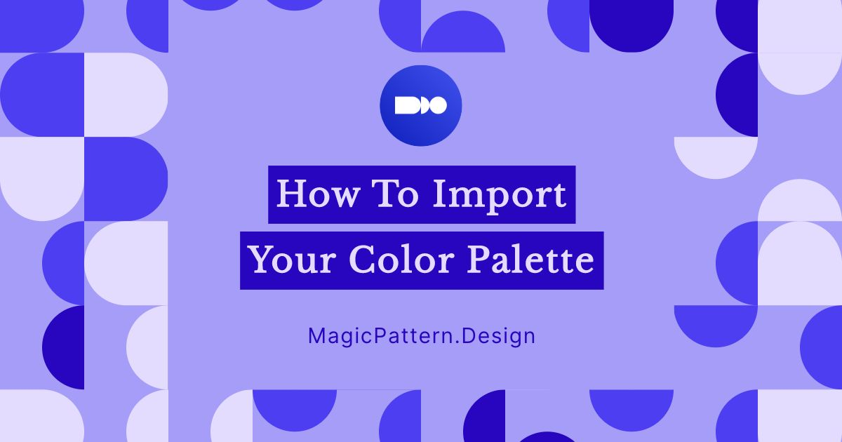 How to import your color palette