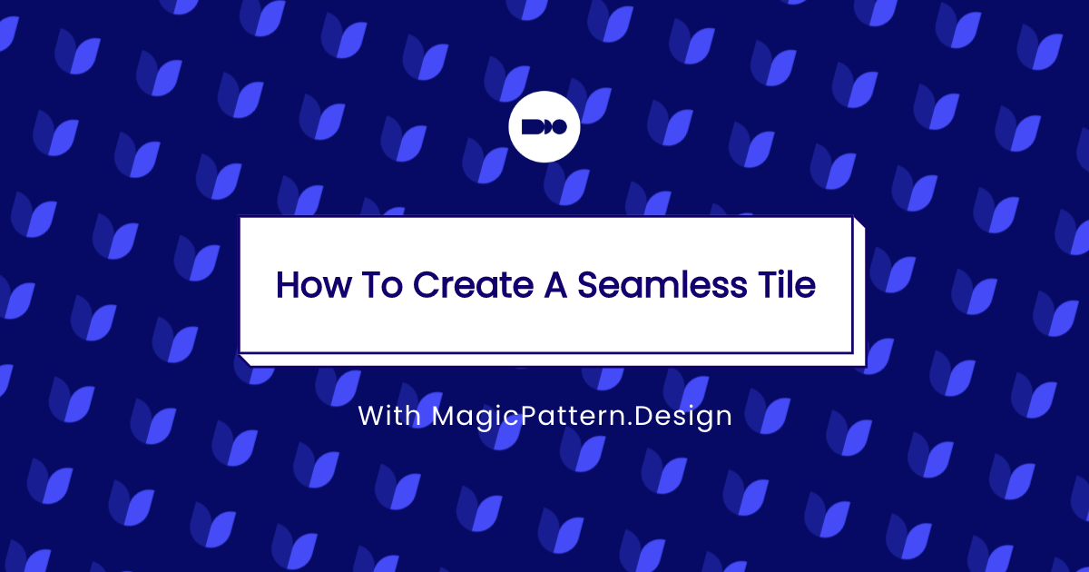 How to create a seamless pattern tile