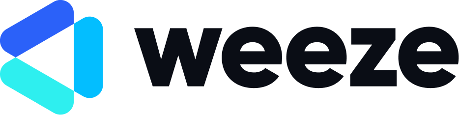 Modern logo design for weeze.io