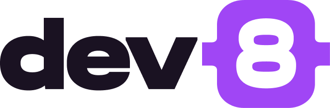 Modern logo design for dev8.co