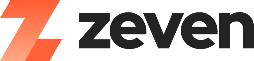 Modern logo design for zeven.io