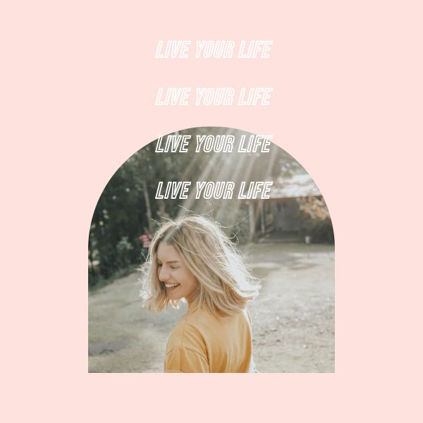Pink Minimal Inspirational Quote Instagram Feed Post