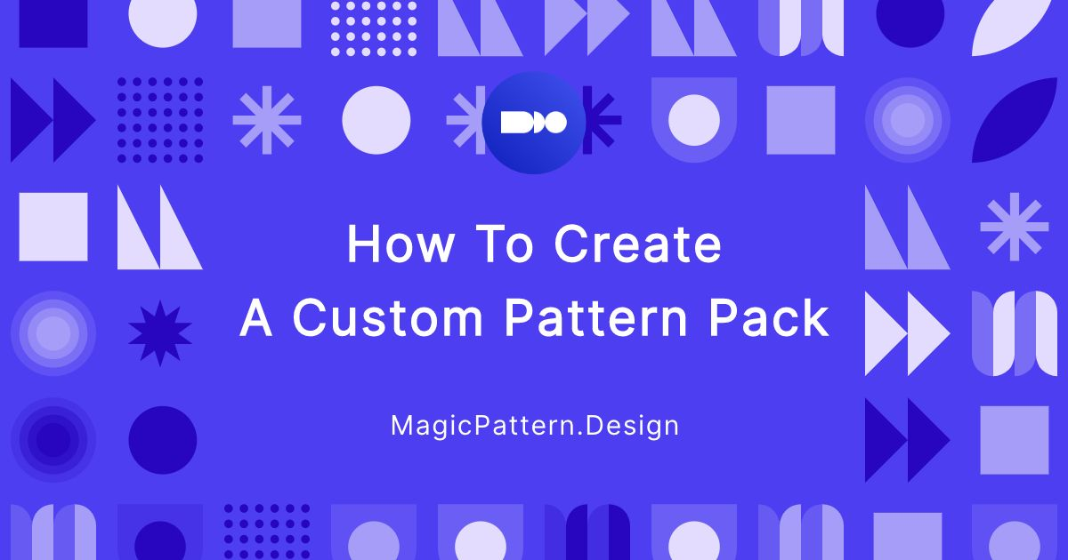 How to create a custom pattern pack