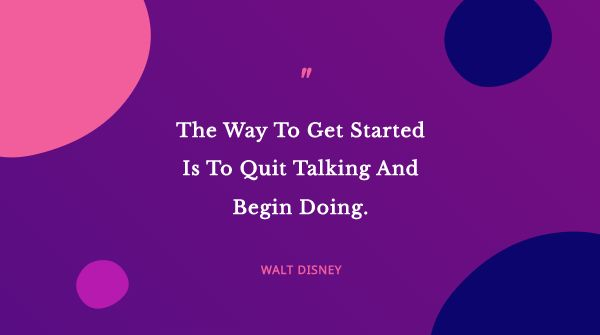 Purple Inspirational Quote Blobs Twitter post