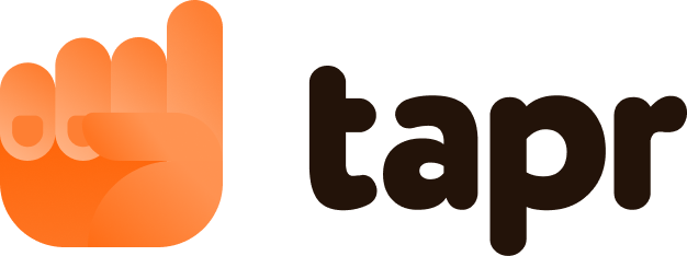 Modern logo design for tapr.io