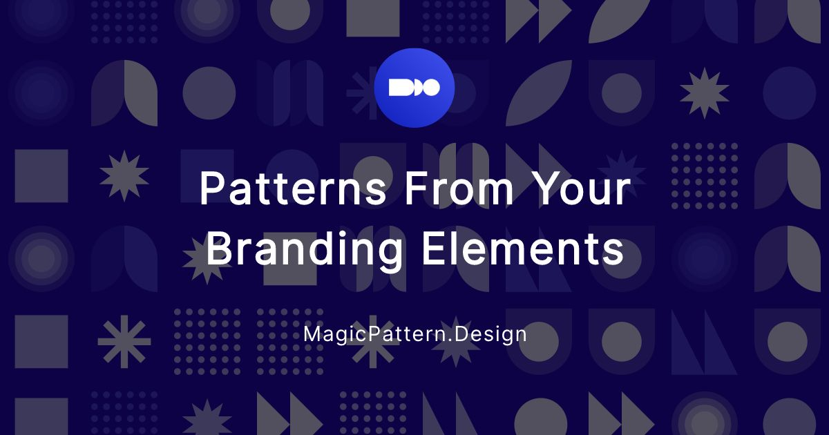Unique patterns from your branding assets