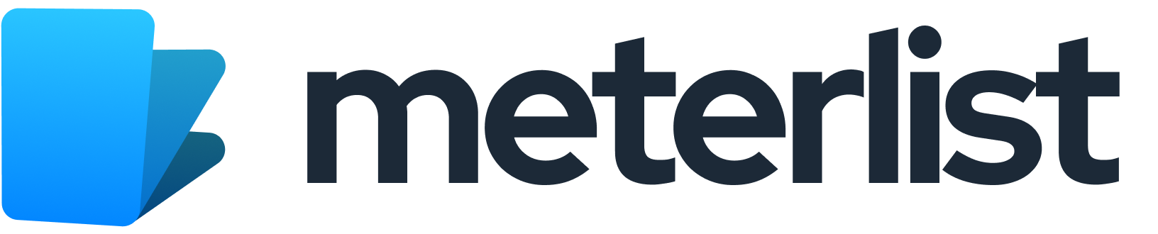 Modern logo design for meterlist.com