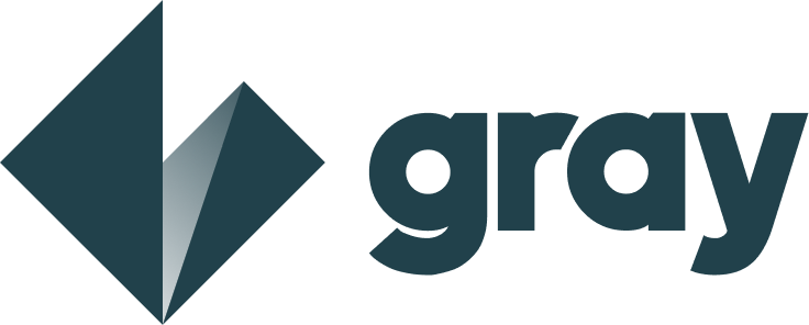 Modern logo design for gray.so