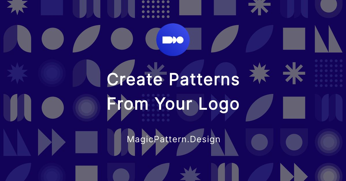 Create a pattern with your logo